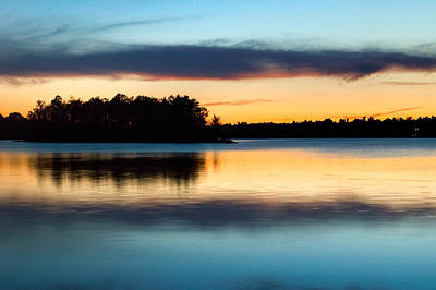 Photograph - Dusk On Black Lake Near Perth Ontario by Rob Huntley
