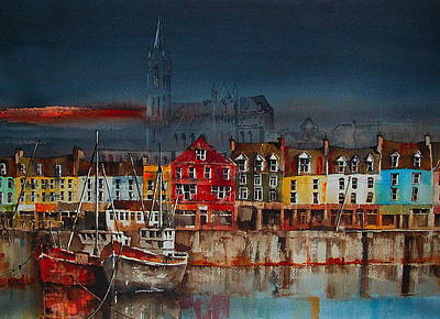 Dusk On Cobh Harbour Cork Art Print