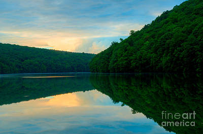 Chauncey Photograph - Dusk On Crescent Lake by JG Coleman