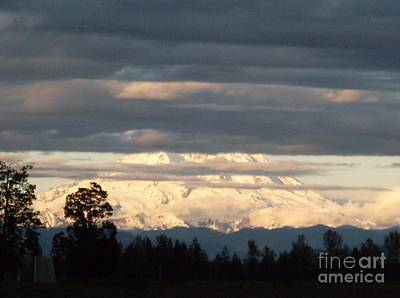 Photograph - Dusk On Mt. Rainier by Pamela Roberts-Aue
