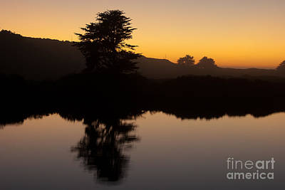Dusk On Russian River - 7059 Art Print by Stephen Parker