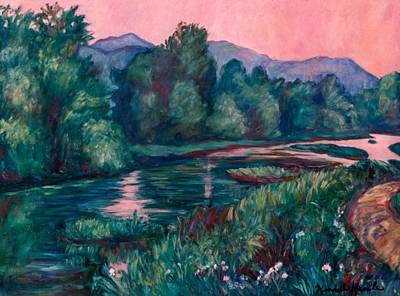 Painting - Dusk On The Little River by Kendall Kessler