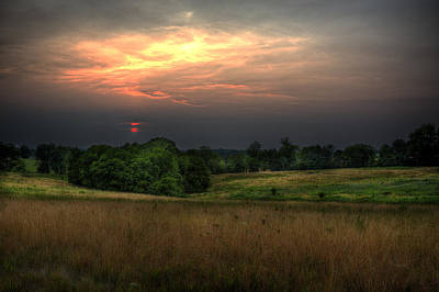 Vale Digital Art - Dusk On The Meadow by William Fields