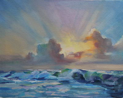Painting - Dusk On The Outer Banks by Susan Bradbury