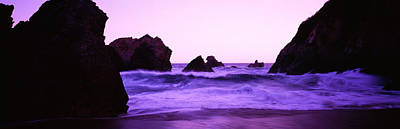 Pastel Sunset Photograph - Dusk On The Santa Cruz Coastline by Panoramic Images