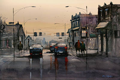 Painting - Dusk - Oshkosh by Ryan Radke