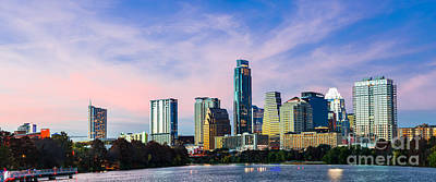 Texas Photograph - Dusk Over Austin Panorama by Tod and Cynthia Grubbs