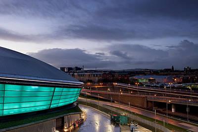 Photograph - Dusk Over Glasgow by Stephen Taylor