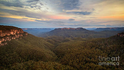 Photograph - Dusk Over Mount Solitary by Silken Photography