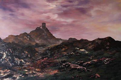 Mow-cop Painting - Dusk Over Mow-cop by Jean Walker