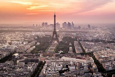Dusk Over Paris Art Print