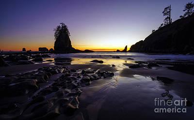 Photograph - Dusk Peace Along The Washington Coast by Mike Reid