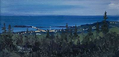 Dusk Settles Over Grand Marais Original by Spencer Meagher