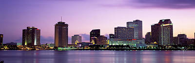 Louisiana Photograph - Dusk Skyline, New Orleans, Louisiana by Panoramic Images