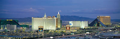 Dusk The Strip Las Vegas Nv Art Print by Panoramic Images