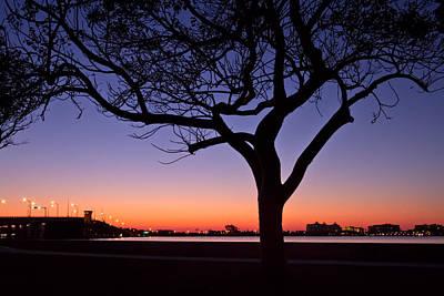 Florida Bridge Photograph - Dusk To Dawn by Debra and Dave Vanderlaan