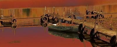 Row Boat Digital Art - Dusk Troll by Tg Devore