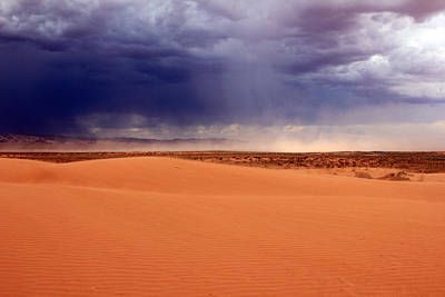Blue And Brown Photograph - Dust Cloud In The Utah Desert by Johnny Adolphson