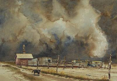 Painting - Dust Storm A-comin' by Norman Freyer