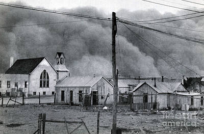 Sirocco Photograph - Dust Storm, Clayton, New Mexico, 1937 by Science Source