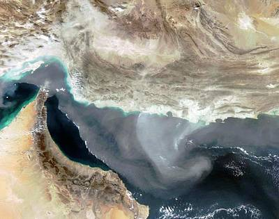 Airflow Photograph - Dust Storm Over Iran by Nasa