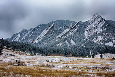 Photograph - Dusted Flatirons Chautauqua Park Boulder Colorado by James BO  Insogna