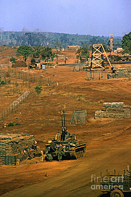 Photograph - M 42 Duster Of 4/60th Artillery At  Lz Oasis Vietnam 1969 by California Views Archives Mr Pat Hathaway Archives
