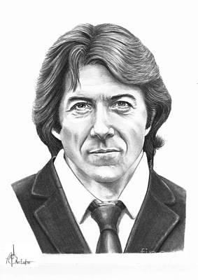 Famous People Drawing - Dustin Hoffman by Murphy Elliott