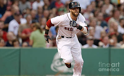 Dustin Pedroia Print by Marvin Blaine