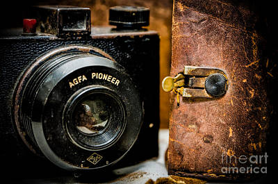 Photograph - Dusty Agfa Pioneer Camera And Case by Kathleen K Parker