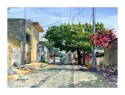 Dusty Backstreet In Ajijic Art Print