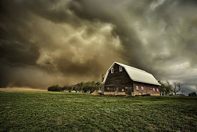 Barn Red Photograph - Dusty Barn by Thomas Zimmerman
