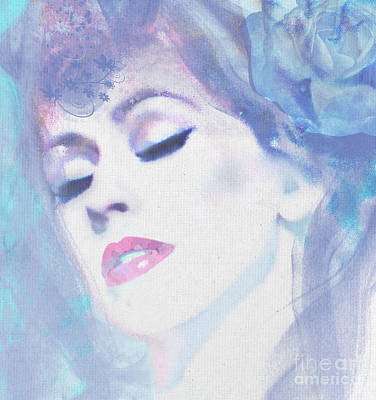 Digital Art - Dusty Blues by Kim Prowse
