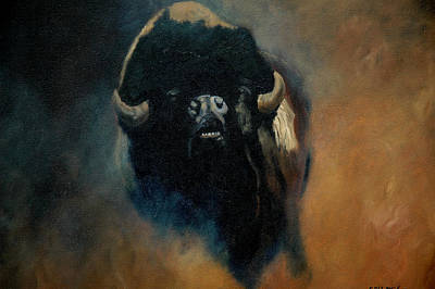 Dusty Buffalo Art Print