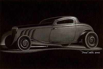 Dusty Ford Coupe Art Print by Paul Kim