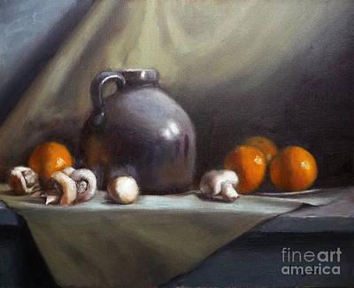 Tangerine Painting - Dusty Jug by Viktoria K Majestic