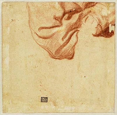 Dutch 17th Century, Drapery Study Verso Art Print