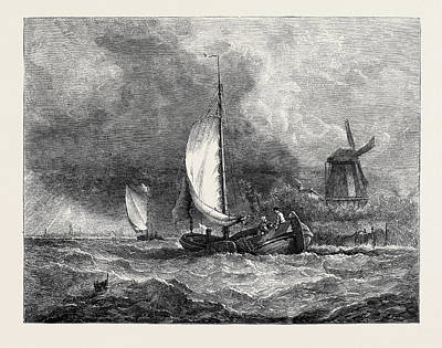 Dutch Boats On The Maas Art Print