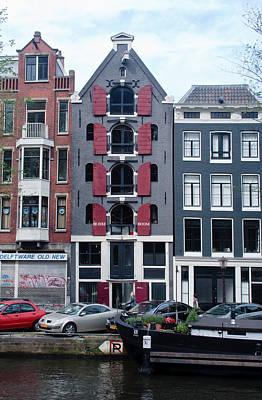 Dutch Canal House Art Print