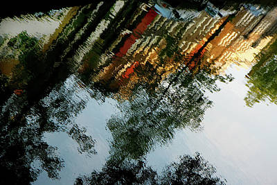 Art Print featuring the photograph Dutch Canal Reflection by KG Thienemann