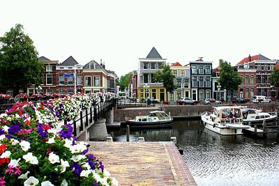 Photograph - Dutch Cityscape With Boats by Carol Groenen