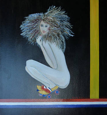 Rollerskate Painting - Dutch Diva by Thea  Roelofs