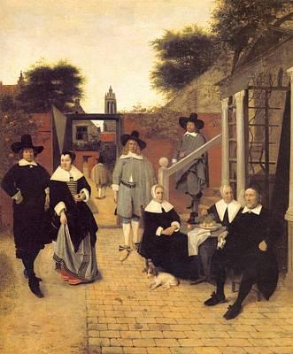 Netherlands Painting - Dutch Family by Pieter de Hooch