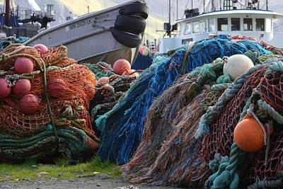 Dutch Photograph - Dutch Harbor Fishing Nets And Boats by Adam Shaw