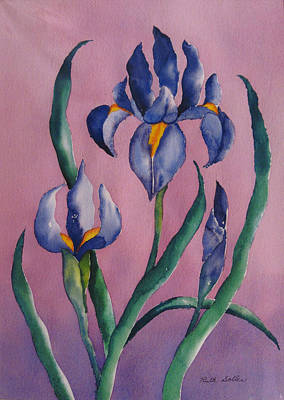 Painting - Dutch Irises by Ruth Soller