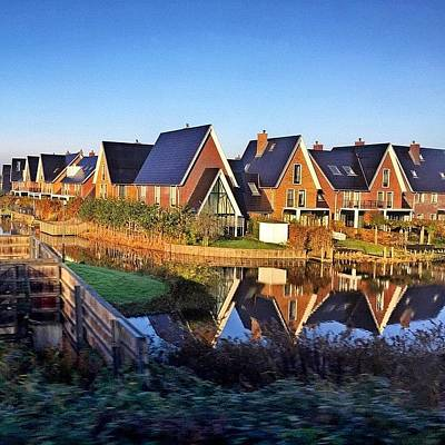 Dutch Photograph - Dutch Modern Houses ... #dutch #modern by Maritha Graph