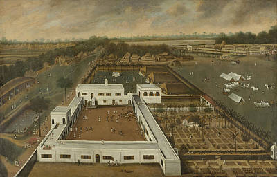 Plantation Drawing - Dutch Plantation In Bengal, Hendrik Van Schuylenburgh by Litz Collection