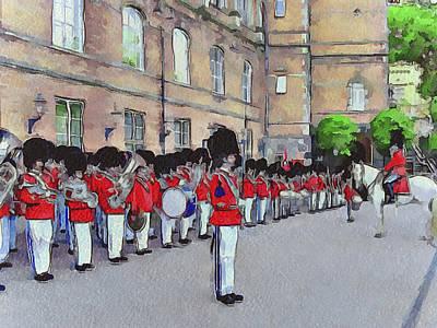 Copenhagen Denmark Digital Art - Dutch Royal Guards by Yury Malkov