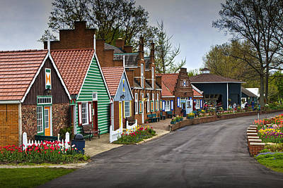 Photograph - Dutch Shops On Windmill Island In Holland Michigan by Randall Nyhof