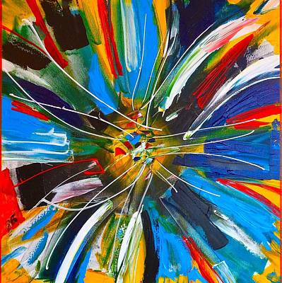 Abstract Windmill Painting - Dutch Spin by Rob Van Heertum